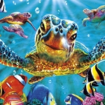 SEA TURTLE SELFIE Diamond Painting Kit Paint with Diamonds Kit