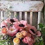 RUSTIC VINTAGE CHAIR WITH FLOWERS Diamond Painting Kit Paint with Diamonds Kit