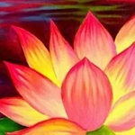 WATERCOLOR LOTUS Diamond Painting Kit Paint with Diamonds Kit
