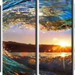 INSIDE AN OCEAN WAVE 4 Panel Multi-Panel Diamond Painting Kit Paint with Diamonds Kit