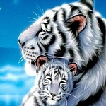 WHITE TIGERS Diamond Painting Kit Paint with Diamonds Kit