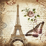 ANTIQUE POSTCARDS FROM PARIS Diamond Painting Kit Paint with Diamonds Kit