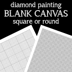 BLANK CANVAS GRID Diamond Painting Kit Paint with Diamonds Kit