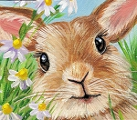 BUNNY SELFIE Diamond Painting Kit Paint with Diamonds Kit
