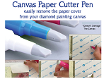 CANVAS PAPER CUTTER Blade Pen for Cutting Paper Cover On Diamond Painting Canvas