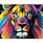 COLORFUL LION Diamond Painting Kit Paint With Diamonds Kit