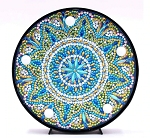 CRYSTAL BLUE MANDALA PLATE Diamond Painting Light Kit