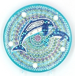 CRYSTAL DOLPHIN PLATE Diamond Painting Light Kit