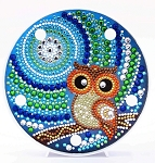 CRYSTAL OWL PLATE Diamond Painting Light Kit