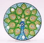 CRYSTAL PEACOCK PLATE Diamond Painting Light Kit