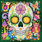 DAY OF THE DEAD SKULL Diamond Painting Kit Paint With Diamonds Kit