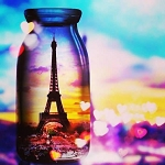 EIFFEL TOWER IN A BOTTLE Diamond Painting Kit Paint with Diamonds Kit