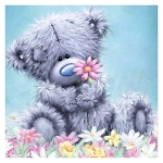 FUZZY TEDDY BEAR Diamond Painting Kit Paint with Diamonds Kit