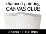 CANVAS GLUE STRIPS Diamond Painting Adhesive Glue Strips for Painting With Diamonds Kits