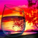 LAKE SUNSET REFLECTIONS IN GLASS Diamond Painting Kit Paint with Diamonds Kit