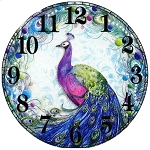 PEACOCK CLOCK Diamond Painting Kit Paint with Diamonds Kit