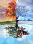 SEASONAL TREE REFLECTION Diamond Painting Kit Paint with Diamonds Kit