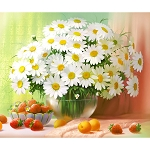 WHITE DAISY BOUQUET Diamond Painting Kit Paint with Diamonds Kit