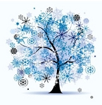 WINTER FOUR SEASONS TREE Diamond Painting Kit Paint With Diamonds Kit