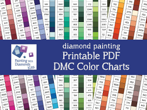 PRINT YOURSELF DMC COLOR CHART Sorted By Color Family Diamond Painting Drill Color Charts Dmc Color Card