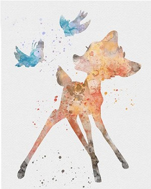 BAMBI DISNEY INK BLOTS Diamond Painting Kit Paint with Diamonds Kit