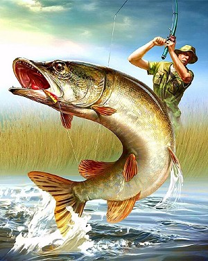 FISHERMAN Diamond Painting Kit Paint with Diamonds Kit