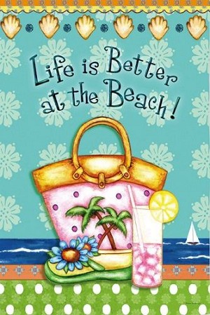 LIFE IS BETTER AT THE BEACH Diamond Painting Kit Paint with Diamonds Kit