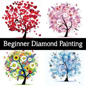 99¢ BEGINNER DIAMOND PAINTING KIT Try Diamond Painting Paint With Diamonds Kit