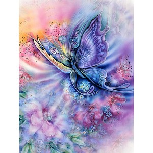 BUTTERFLY & FLOWERS Diamond Painting Kit Paint With Diamonds Kit
