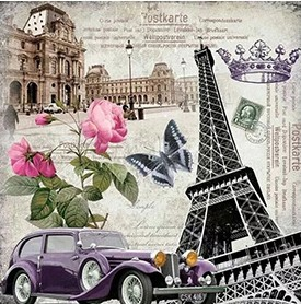 CAR POSTCARDS FROM PARIS Diamond Painting Kit Paint with Diamonds Kit