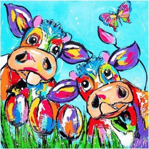 COLORFUL COWS Diamond Painting Kit Paint with Diamonds Kit