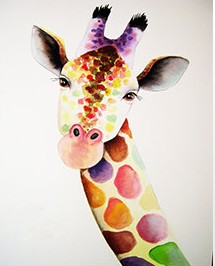 DOTTED GIRAFFE SELFIE Diamond Painting Paint With Diamonds Kit