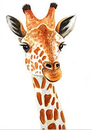 EYE LASHES GIRAFFE SELFIE Diamond Painting Kit Paint with Diamonds Kit