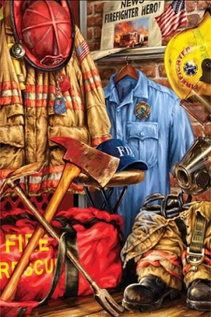 FIREFIGHTER RESCUE Diamond Painting Kit Paint with Diamonds Kit