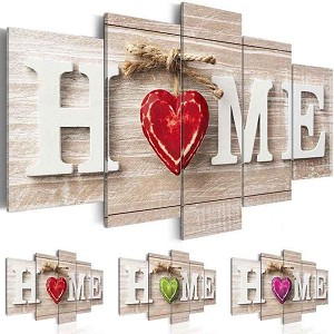 "HOME IS WHERE THE HEART IS 39"" x 19"" Multi-Panel Diamond Painting Kit Paint With Diamonds Kit"
