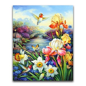 HUMMINGBIRD GARDEN Diamond Painting Kit Paint with Diamonds Kit