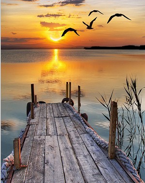 LAKE DOCK SUNSET Diamond Painting Kit Paint With Diamonds Kit
