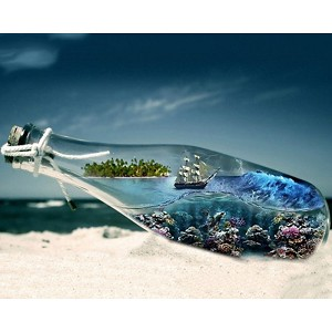 MESSAGE IN A BOTTLE Diamond Painting Kit Paint with Diamonds Kit