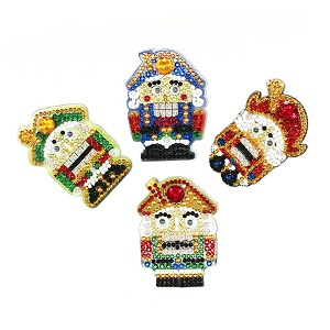 4 CRYSTAL NUTCRACKER KEYCHAINS Diamond Painting Keychain Kit
