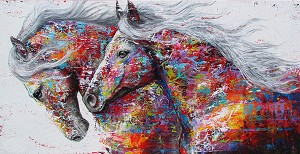 PAINTED HORSES Diamond Painting Kit Paint with Diamonds Kit