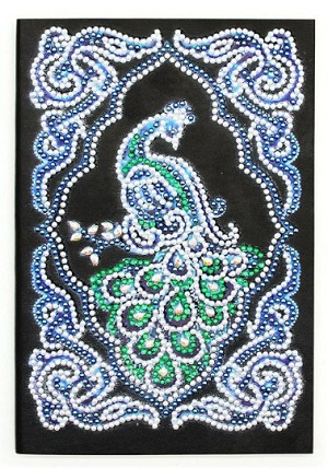 "5"" x 8"" CRYSTAL PEACOCK NOTEBOOK Diamond Painting Notebook Kit"
