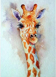 PORTRAIT GIRAFFE SELFIE Diamond Painting Kit Paint with Diamonds Kit