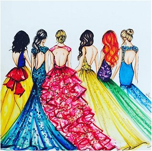 DISNEY PRINCESSES IN GOWNS Diamond Painting Kit Paint with Diamonds Kit