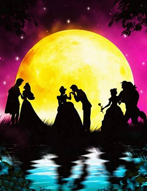 PRINCESSES DISNEY SHADOWS Diamond Painting Kit Paint with Diamonds Kit