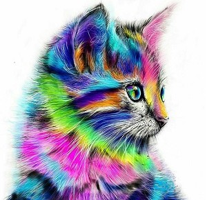 PSYCHEDELIC CAT Diamond Painting Kit Paint with Diamonds Kit