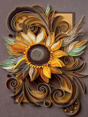 ROLLED PAPER SUNFLOWER Diamond Painting Kit Paint With Diamonds Kit