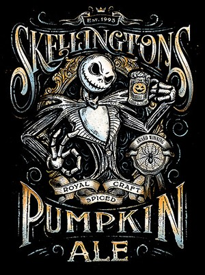 SKELLINGTONS PUMPKIN ALE Diamond Painting Kit Paint with Diamonds Kit