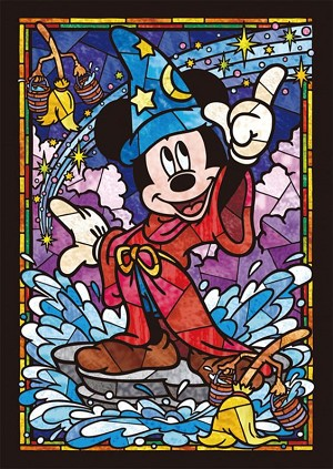 SORCERER MICKEY STAINED GLASS Diamond Painting Kit Paint with Diamonds Kit