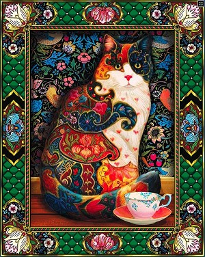TAPESTRY TEA CAT Diamond Painting Kit Paint with Diamonds Kit
