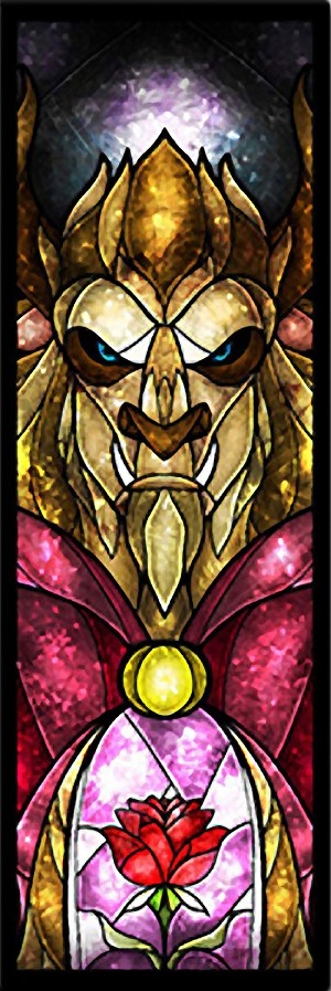 TALL THE BEAST STAINED GLASS Diamond Painting Kit Paint with Diamonds Kit